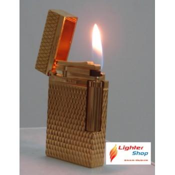 Bật lửa Dupont màu vàng đan chéo