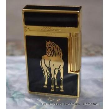 Bật lửa Dupont sơn mài khắc ngựa