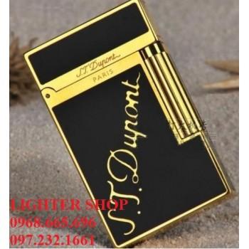 Bật lửa Dupont vàng đen khắc S.T.Dupont