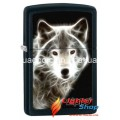 White Wolf with Logo Zippo Lighter